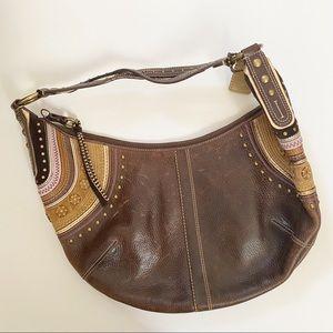 Coach Boho Brown Leather Hobo Bag J0669-10478